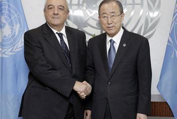 Агшин Мехдиев и Пан Ги Мун. Фото ООН