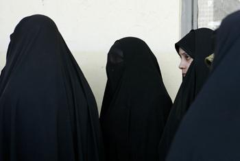 Мусульманские женщины. Фото ООН/Р.Бажорнас