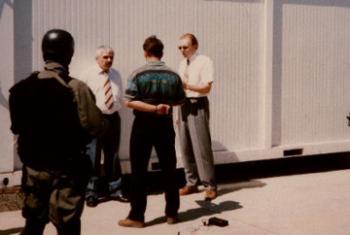 Задержание Славко Докмановича. Фото из архива ООН