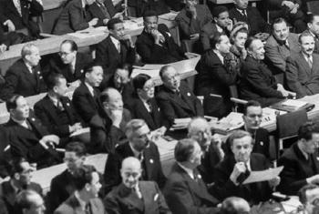 Первое заседание Генассамблеи в 1946 г. Фото ООН