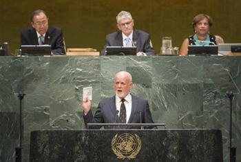 Питер Томсон вступает в должность Председателя ГА ООН. Фото ООН