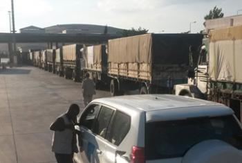 Автоколонна в окрестностях Алеппо. Фото ООН