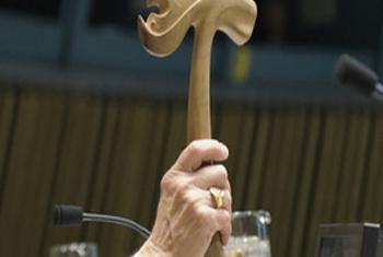 Молоток Председателя Генеральной Ассамблеи ООН. Фото ООН