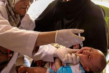 Прививка от полиомиелита. Фото ООН