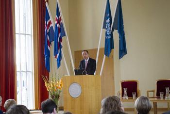 Генеральный секретарь ООН на семинаре в Исландии. Фото ООН