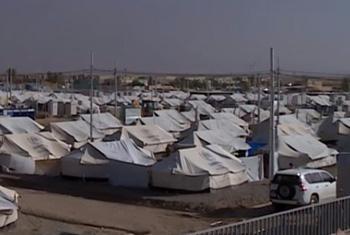 Лагерь УВКБ для беженцев в Ираке. Фрагмент видео УВКБ