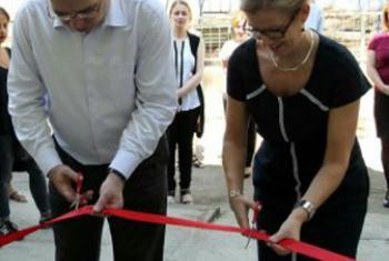 Церемония открытия Кризисного центра для жертв бытового насилия. Фото «ООН-Женщины»