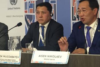 Турлыбек Муссабаев и Айсен Николаев. Фото ООН