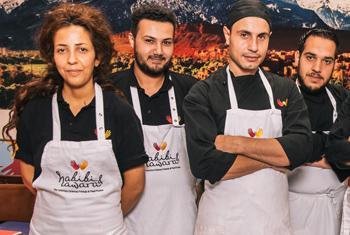 Сотрудники ресторана «Хабиби и хавара». Фото ООН