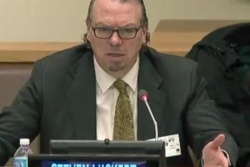 Стивен Лаккерт. Фото: фрагмент видеотрансляции ООН