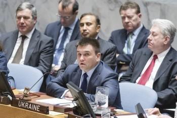 Павел Климкин председательствует на заседании СБ ООН. Фото ООН