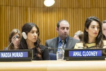 Надия Мурад Баси Таха и Амаль Клуни. Фото ООН