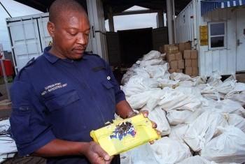 Изъятие крупной партии наркотиков. Фото УНП ООН