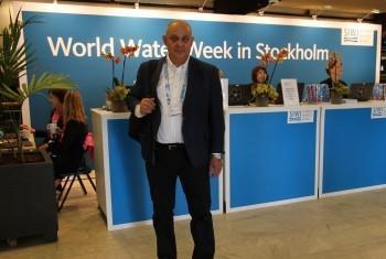 Искандар Абдуллаев на Всемирной неделе воды в Стокгольме. Фото предоставлено И.Абдуллаевым