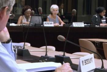 На заседании Комитета. Фрагмент видео ТВ ООН