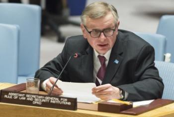 Александр Зуев выступает в Совбезе ООН. Фото ООН