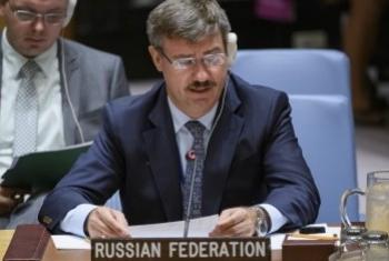 Петр Ильичев на заседании Совета Безопасности. Фото ООН