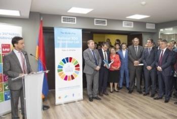 На открытии Центра. Фото ПРООН в Армении