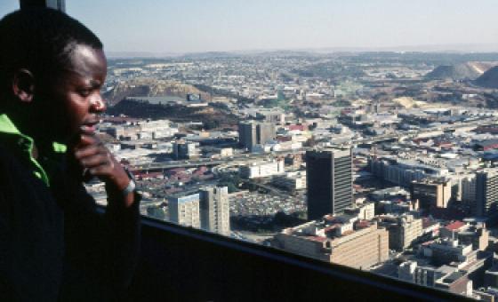 Enzi za ubaguzi nchini Afrika Kusini hapa ni mjini Johannesburg(1982)