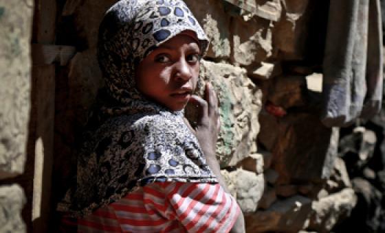 Miongoni mwa wahanga wa mashambulizi Yemen ni watoto. (Picha:UNICEF/UN013947/Shamsan) MAKTABA