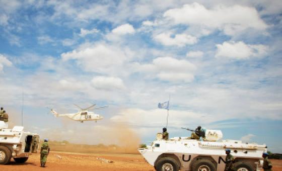 Walinda amani wakipiga doria Abyei.(Picha:UM/Stuart Price)