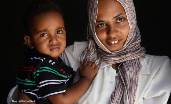 Mama na mtoto wake nchini Libya. Picha: UNFPA