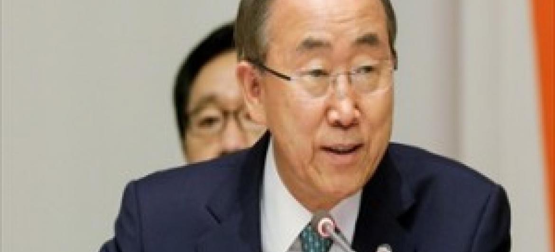 Ban Ki-Moon, Katibu Mkuu wa Umoja wa Mataifa. (Picha: