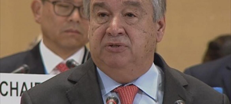 Kamishna Mkuu wa Shirika la Kuhudumia Wakimbizi, UNHCR, António Guterres.(Picha ya UN/unifeed)