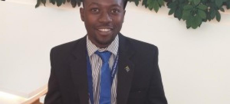 Selemani Y Kitenge, mwakilishi wa ujumbe wa Tanzania kwenye kongamano la kimataifa kuhusu sera za vijana. (Picha:UN/Basma Baghall)