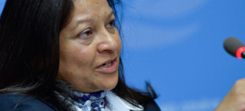 Sheila B. Keetharuth, Mratibu Maalum kuhusu haki za binadamu Eritrea. Picha ya UN/Jean Marc Ferré.