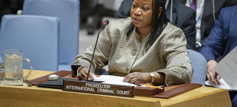 Mwendesha Mashtaka Mkuu wa Mahakama ya Kimataifa ya Makosa ya Jinai (ICC) Fatou Bensouda.(Picha:UM/Manuel Elias)
