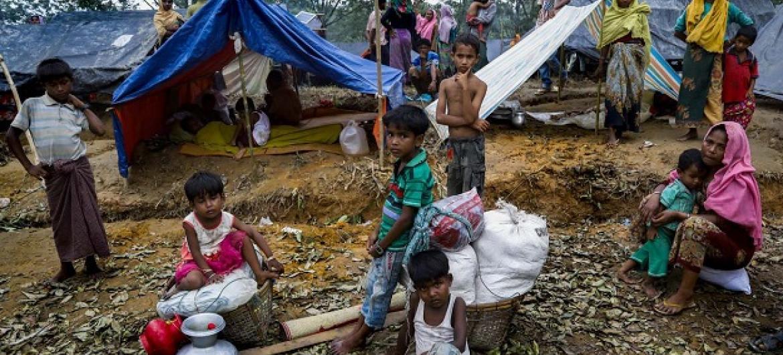 Wakimbizi WaRohingya kambini nchini Bangladesh. Picha: WFP