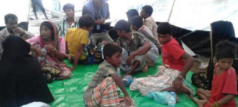 Baadhi ya wakimbizi wa kabila la Rohingya . (Picha:UM/IOM)