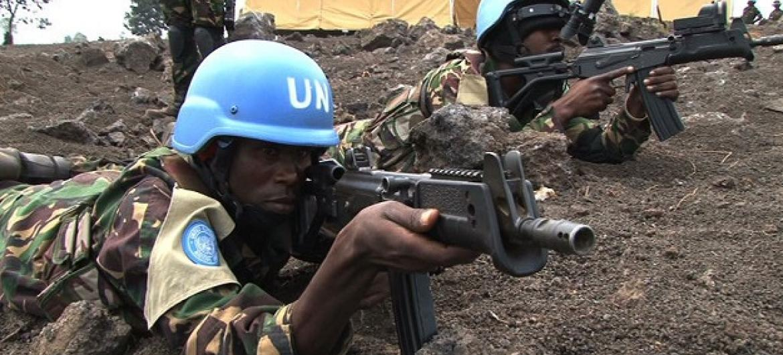 Walinda amani kutoka Tanzania kwenye kikosi maalum cha kujibu mashambulizi katika ujumbe wa Umoja wa Mataifa huko DRC, MONUSCO. (Picha:Unifeed/Video capture)