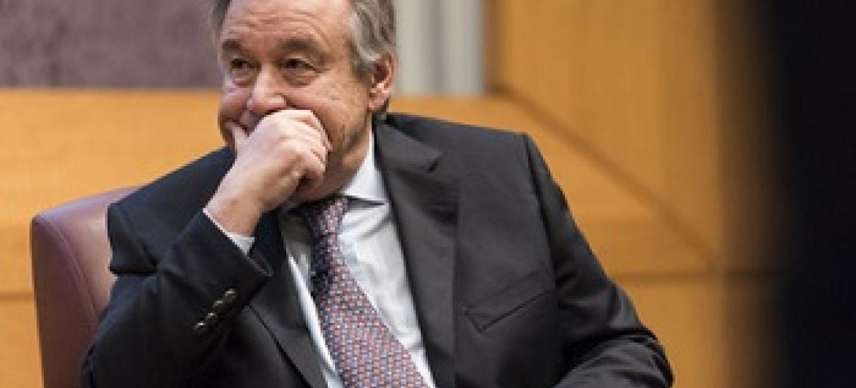 Katibu Mkuu wa Umoja wa Mataifa Antonio Guterres. (Picha:UN/Mark Garten)