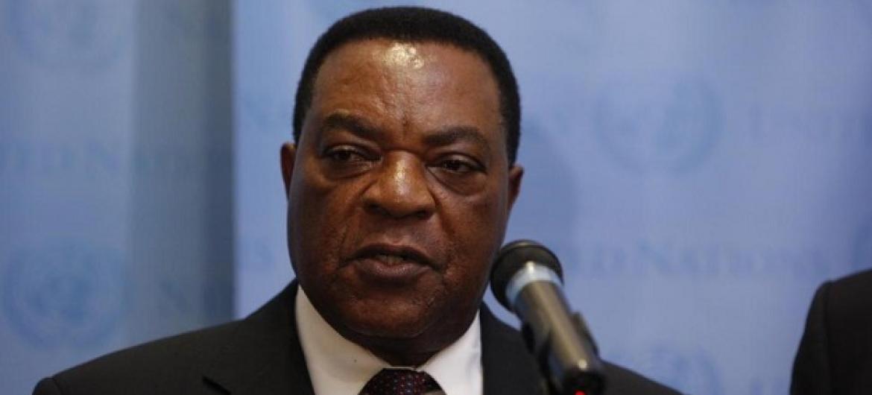 Balozi Augustine Mahiga-Waziri wa Mambo ya Nje na Ushirikiano wa Afrika Mashariki wa Tanzania. (Picha:UN/Aliza Eliazarov)