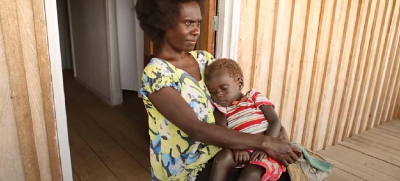 Francesca alipambana hadi Benki ya Dunia ikasaidia kuwajengea kituo cha afya kijijini kwao huko Papua New Guinea. (Picha:video-Benki ya Dunia)