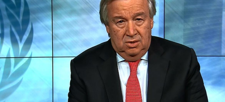 Katibu Mkuu wa Umoja wa Mataifa Antonio Guterres. (Picha:UNVideo Capture)