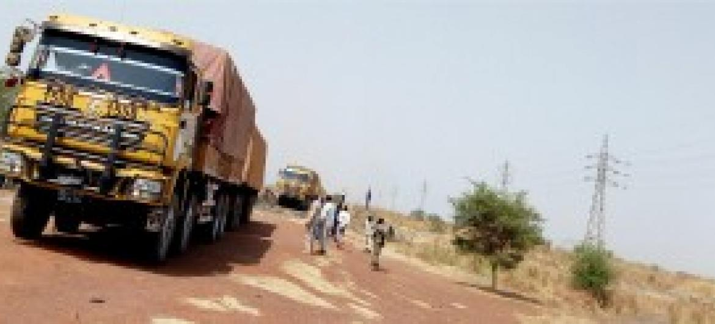 Malori ya misaada ya kibinadamu baada ya kuwasili katika mji wa Aweil, Sudan Kusini.