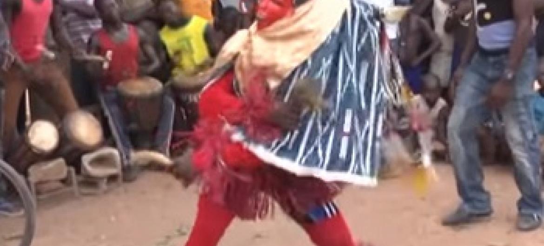 Mcheza ngoma ya Zaouli. Picha: UM/Video capture