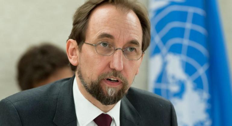 Kamishina Mkuu wa Haki za binadamu wa Umoja wa Mataifa Zeid Ra'aad al-Hussein. UN/Jean-Marc Ferré