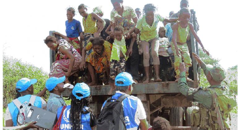 Wakimbizi wa DRC ambao walikimbia machafuko kasai nchini humo.