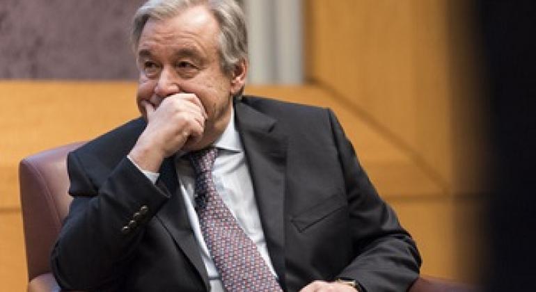 Katibu Mkuu wa Umoja wa Mataifa António Guterres. Picha: UM