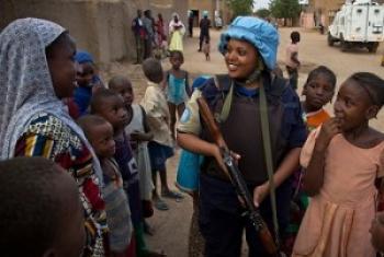 Walinda amani wa Rwanda, wakiwa kwenye ujumbe wa Mataifa nchini Mali. @