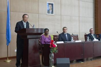 Katibu Mkuu Ban Ki-moon. Picha: Eskender Debebe/Equatorial Guinea.