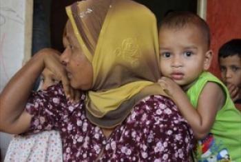Mmoja wa wakazi wa Rakhine baada ya kuwasili Malyasia kufuatia safari ndefu baharini. (Picha© UNHCR/B.Baloch)