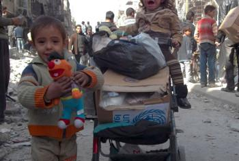 Watoto kutoka Yarmouk. UNRWA/Rami Al-Sayyed