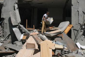 Mtoto akiwa nchini Palestina.(Picha:UNICEF)