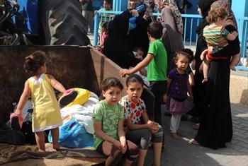 Zaidi ya wakimbizi 50,00 wantafuta hifadhi katika shule za UNRWA.Picha ya Shareef Sarhan/UNRWA/maktaba