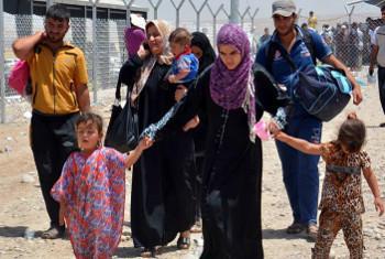 wakimbizi wanaoendelea kukimbia mapigano Mosul @UNHCR Inje Colijn